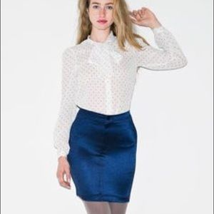 American Apparel Disco Skirt Navy Blue size Small